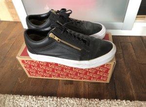Vans Sneaker schwarz mit goldenem Reißverschluss