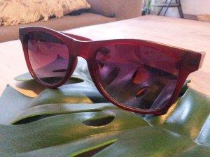 Vans Sonnenbrille matt braun Wayfarer Style mit Hülle