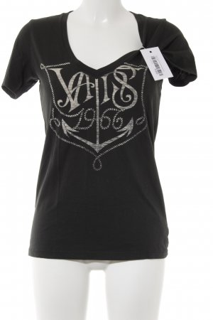 Vans T-Shirt anthrazit-wollweiß Motivdruck Casual-Look