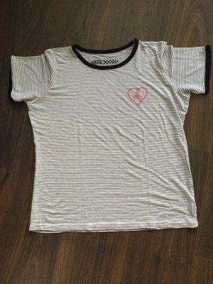 Vans T-Shirt gestreift weiß/schwarz