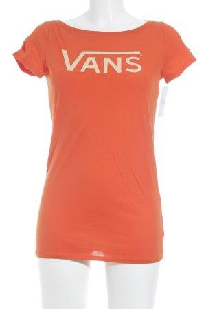 Vans T-Shirt orange grafisches Muster Casual-Look