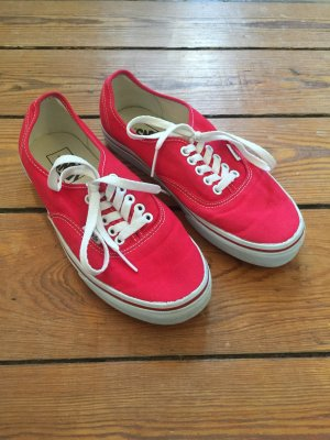 Vans UA authentic crimson/true white, Größe US 8,5