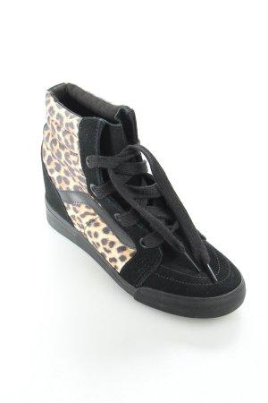 Vans Wedge Sneaker schwarz-dunkelorange Leomuster sportlicher Stil