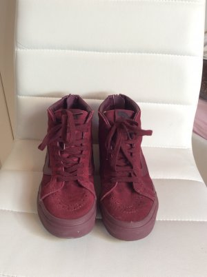 Vans weinrot high top lässig