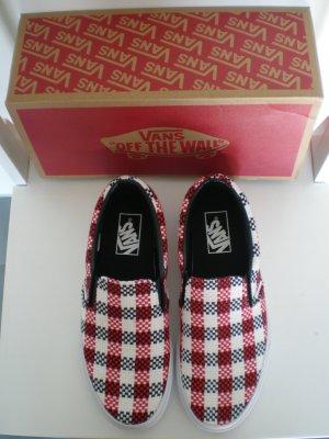 VANS weiß-rot-schwarz kariert - Skatersneaker - neu und in Originalkarton