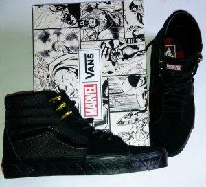 Vans X Marvel Sk8 Hi Black Panther schwarz gold Gr. 39 neu