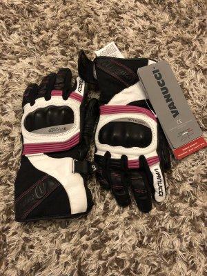 Handschoenen zwart-roze