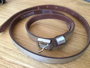 Vanzetti Leather Belt silver-colored