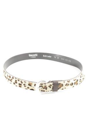 Vanzetti Cinturón de cuero estampado de leopardo look casual
