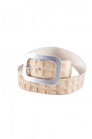 Vanzetti Leather Belt beige-oatmeal reptile print