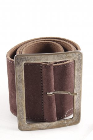 Vanzetti Leather Belt dark brown simple style