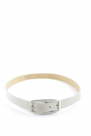 Vanzetti Leather Belt light grey-sage green casual look
