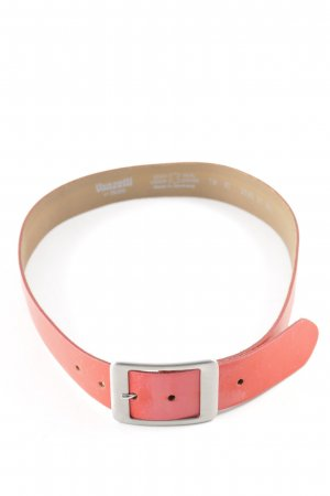 Vanzetti Leather Belt bright red-silver-colored casual look
