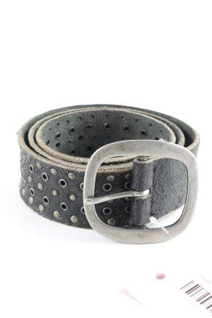 Vanzetti Cinturón de pinchos negro look casual