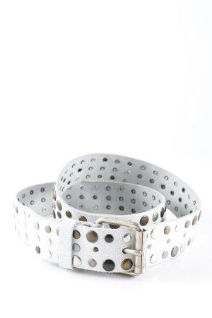 Vanzetti Cinturón de pinchos blanco-color plata Estilo ciclista