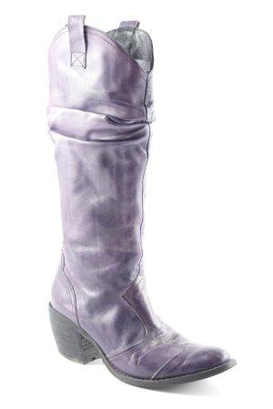 Varese Absatz Stiefel dunkelviolett Casual-Look