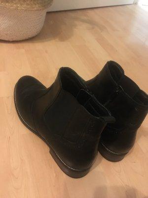 Varese Chelsea Boots schwarz Leder