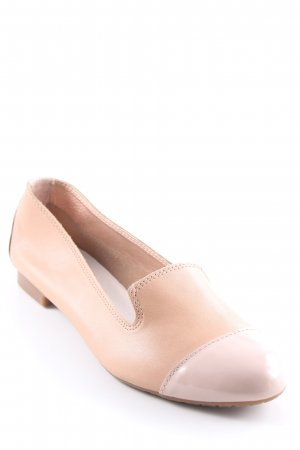 Varese Ballerines pliables beige-vieux rose style simple