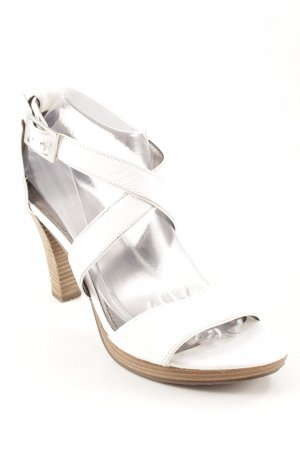 Varese High Heel Sandal white-silver-colored casual look