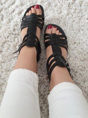 Varese Römer Sandalen 36 schwarz Echtleder Sandaletten Loafer Slipper Wedges Sommerschuhe