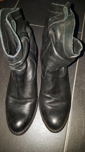Varese Stiefeletten schwarz echt Leder