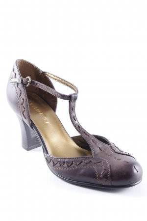 Varese T-Steg-Pumps dunkelbraun Casual-Look