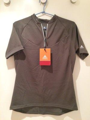 Vaude Sportshirt groen-grijs Polyester