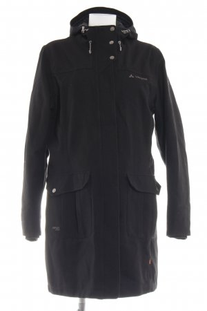 Vaude Hooded Coat black casual look