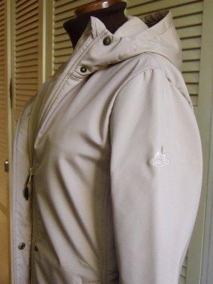 Vaude Manteau à capuche beige clair polyester