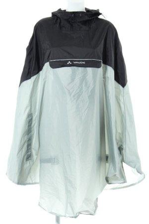 Vaude Regenponcho silberfarben-schwarz minimalistischer Stil