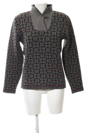 Vaude Kraagloze sweater bloemen patroon casual uitstraling