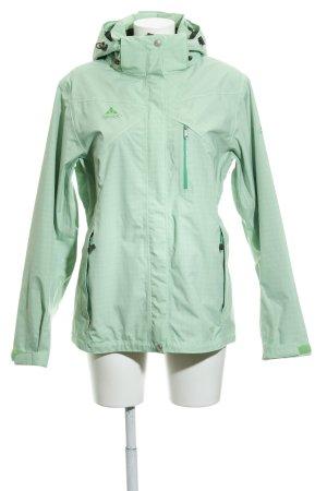 Vaude Windbreaker mint check pattern athletic style