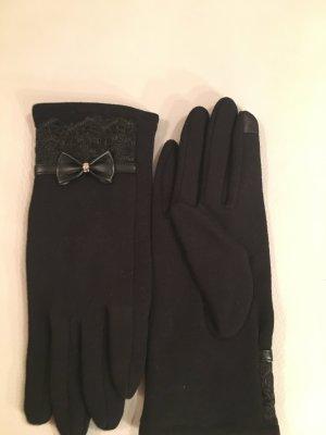 Gloves black mixture fibre