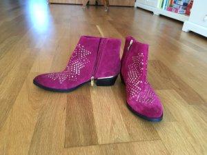 Vince Camuto Western Booties violet