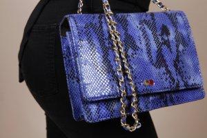 Vegan AURELIE Luxury Snake Print Blau Schlangenoptik Tasche Handtasche OONA
