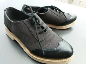 Matt & Nat Zapatos estilo Oxford negro Imitación de cuero