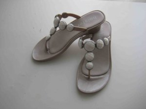 Toe-Post sandals white-oatmeal