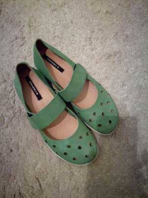 Johannes w. Strappy Ballerinas lime-green