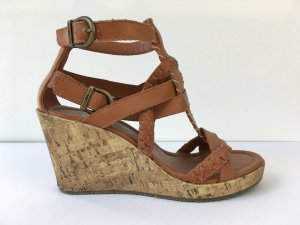 edc by Esprit Wedge Sandals cognac-coloured-light brown