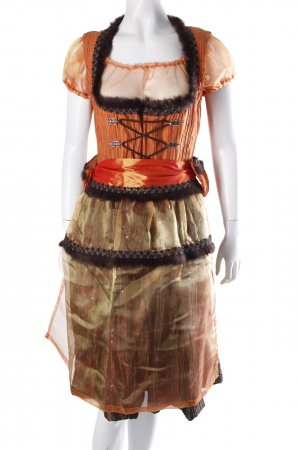 Vele Landmaedels Dirndl Set orange