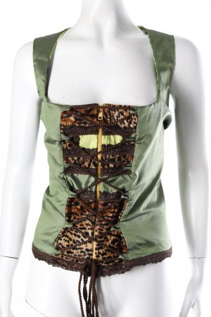 Vele Landmaedels costumes-Top green patterned