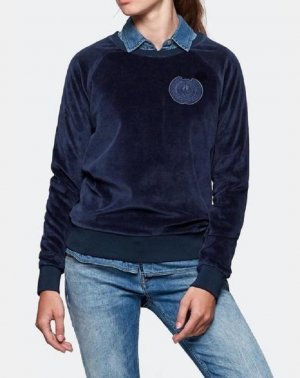 Velour crewneck Sweater