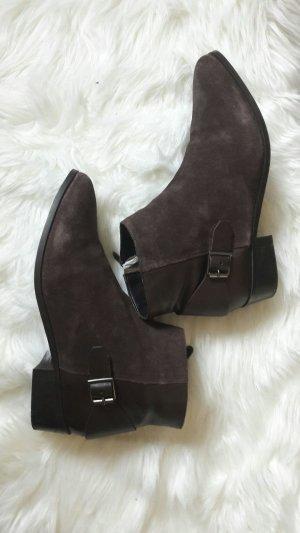 Velour- Lederkombi Boots