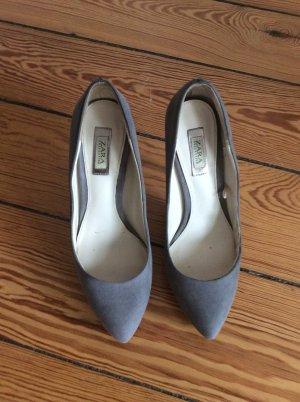 Zara Tacco alto grigio-beige