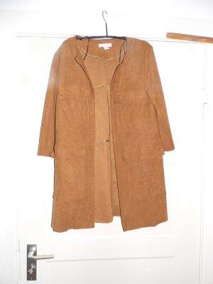 H&M Veste en cuir synthétique brun sable-ocre