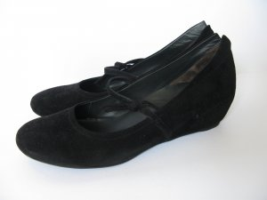 Velours Mary Jane Ballerinas mit Keilabsatz von Paul Green