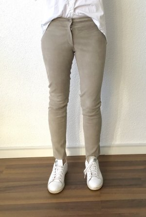 Steven-K Leather Trousers camel-cream leather