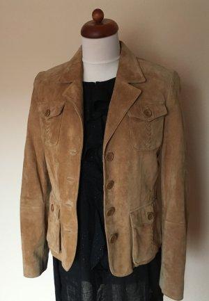 Veloursleder-Jacke/Blazer im Vintage-Cowboy-Style