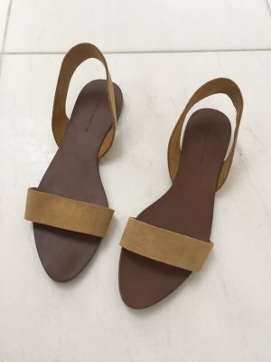 Zara Basic High-Heeled Sandals sand brown