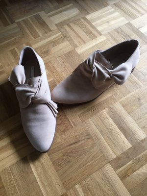 H&M Conscious Collection Oxfords cream-natural white suede
